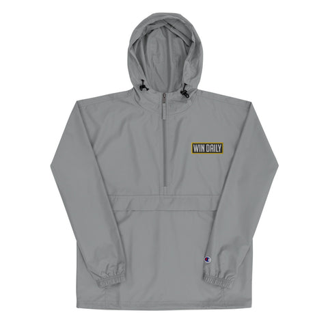 Win Daily Embroidered Champion Packable Jacket