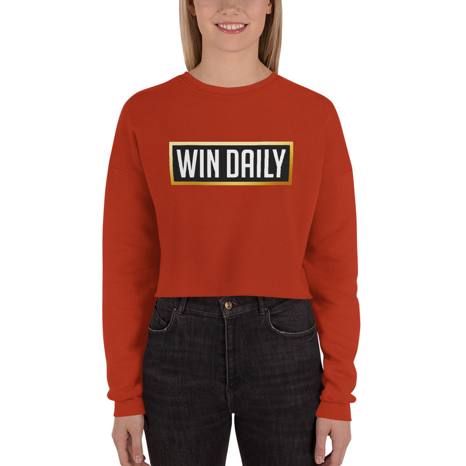 Win Daily Crop Sweatshirt