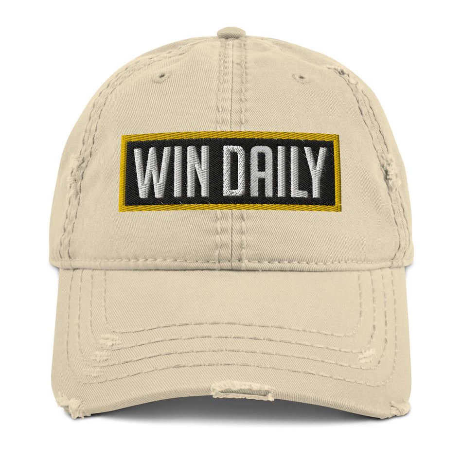 Win Daily Distressed Dad Hat