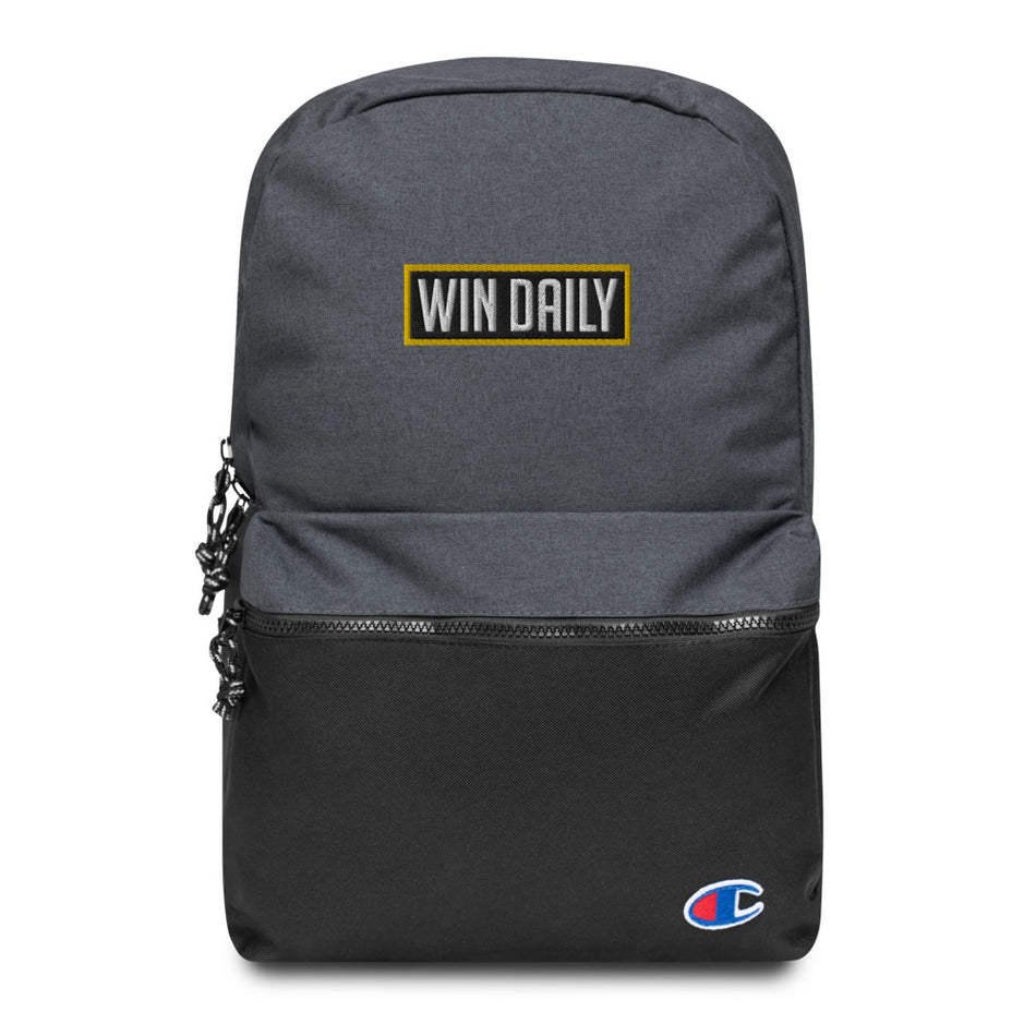 Win Daily Embroidered Champion Backpack