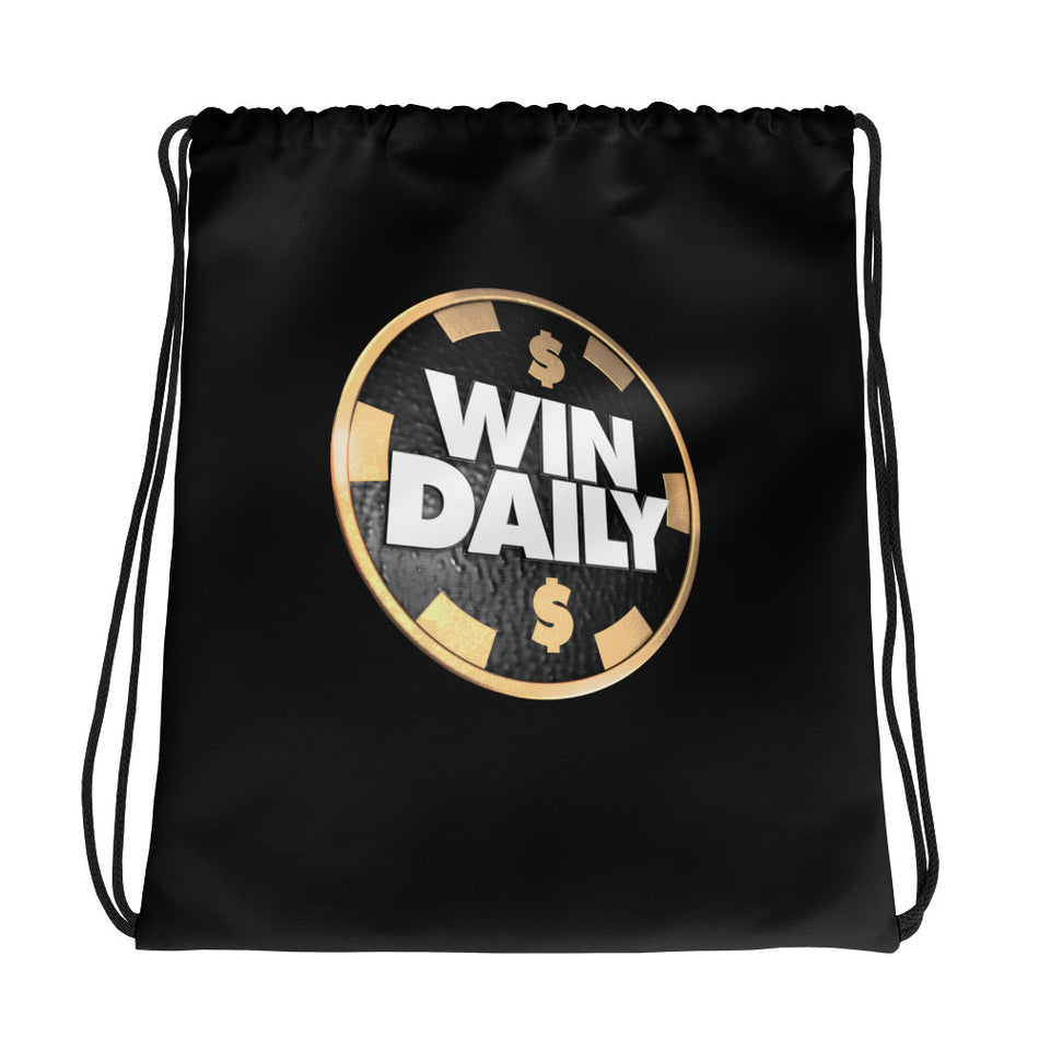 Win Daily Drawstring Bag