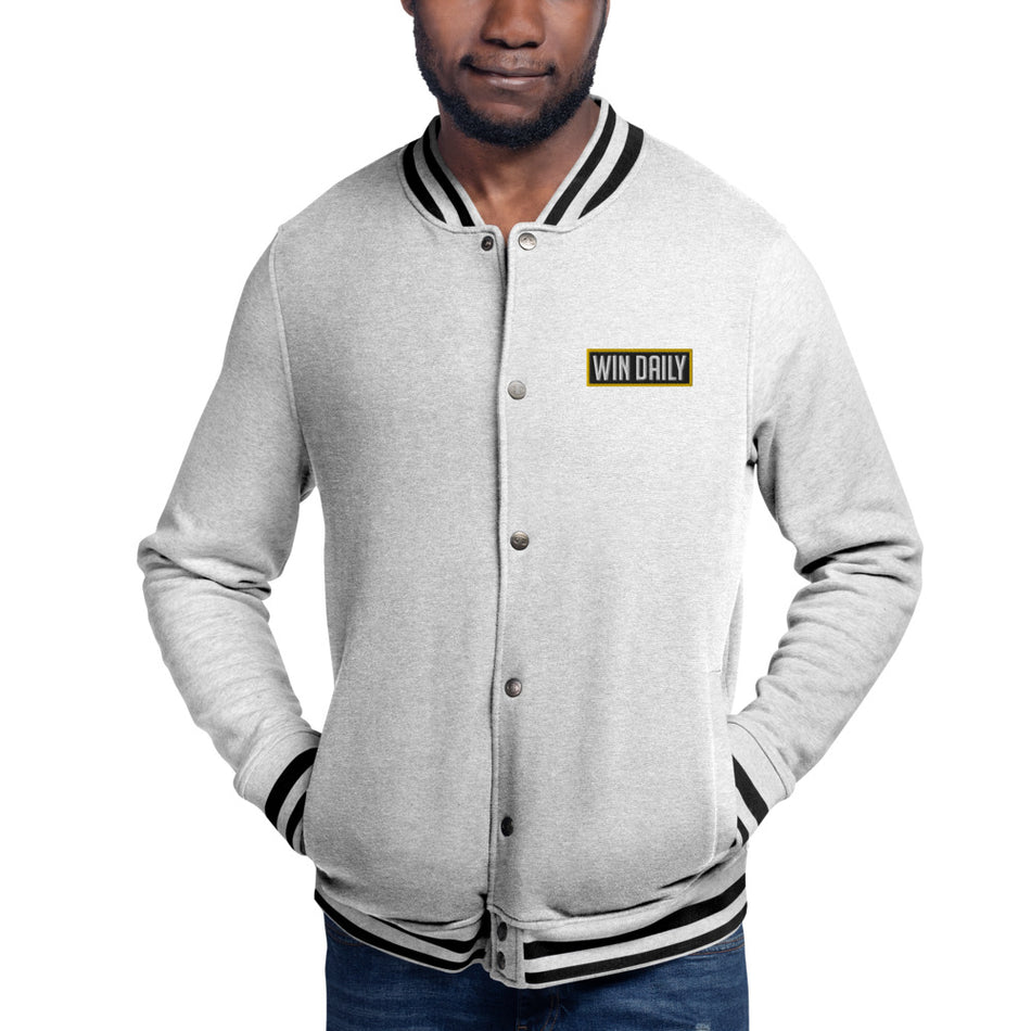 Win Daily Embroidered Champion Bomber Jacket