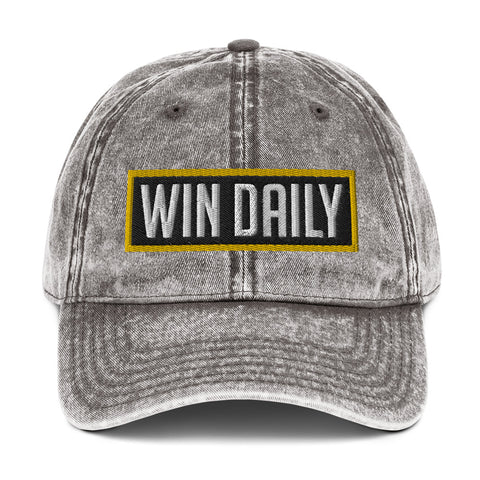 Win Daily Vintage Cotton Dad Hat