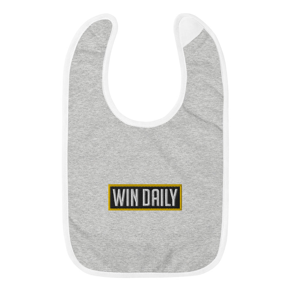 Win Daily Embroidered Baby Bib