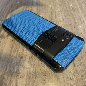 Vertu Aster P Made To Order / Black Body / Blue Leather