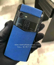 Load image into Gallery viewer, Vertu Aster P Made To Order / Black Body / Blue Leather