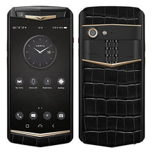 Load image into Gallery viewer, Vertu Aster P Black Alligator Gold Luxury Mobile Phone