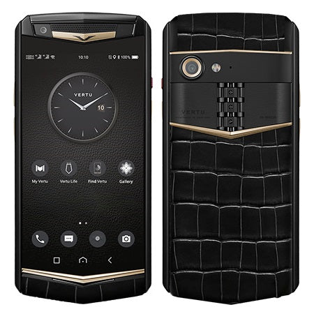 Vertu Aster P Black Alligator Gold Luxury Mobile Phone