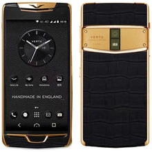Load image into Gallery viewer, Vertu Constellation black alligator gold in india