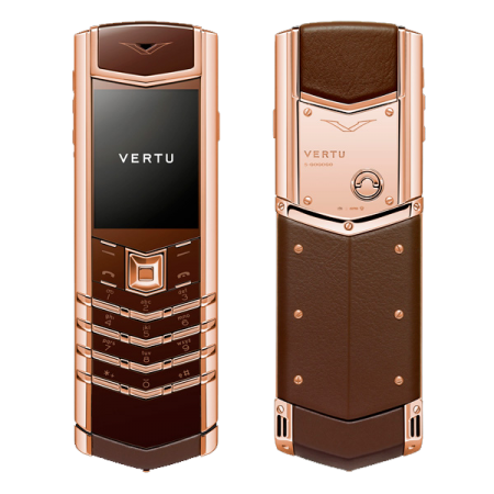vertu signature red gold brown