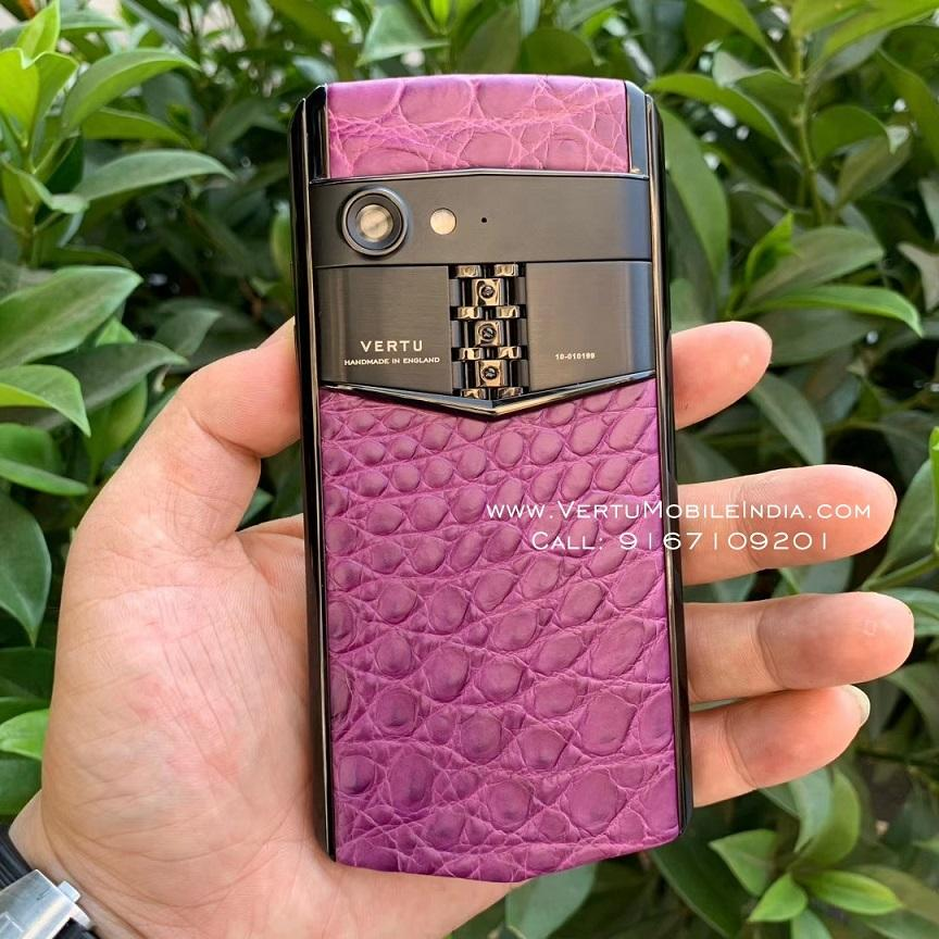 Vertu Aster P Made To Order / Violet Exotic Leather