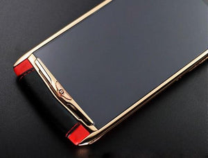Vertu Signature Touch Bentley Red Gold Luxury Mobile Phone