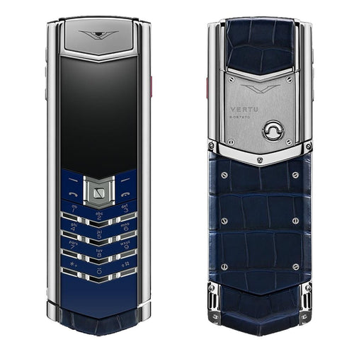 vertu signature navy alligator