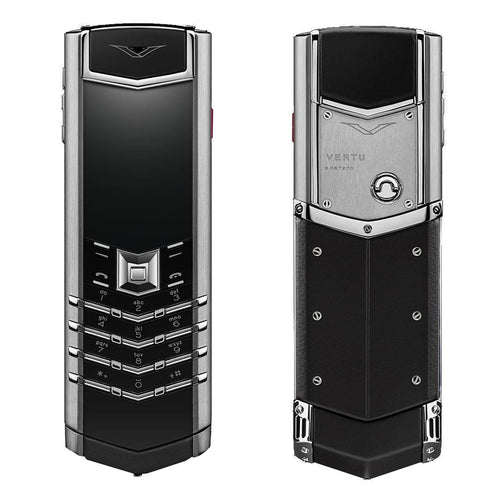 vertu signature silver mobile phone