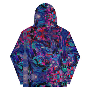 "HUES ""Distorted"" All Over Print Unisex Pullover Hoodie"
