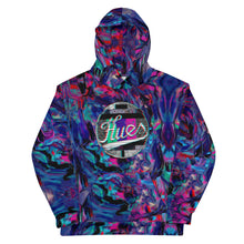 "Load image into Gallery viewer, HUES ""Distorted"" All Over Print Unisex Pullover Hoodie"