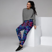 "Load image into Gallery viewer, HUES ""Distorted"" All Over Print Women's Joggers"