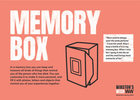 Making a Memory Box: Activity Sheet (paper copy)