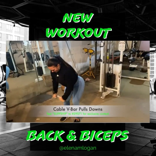 New Back & Biceps Workout