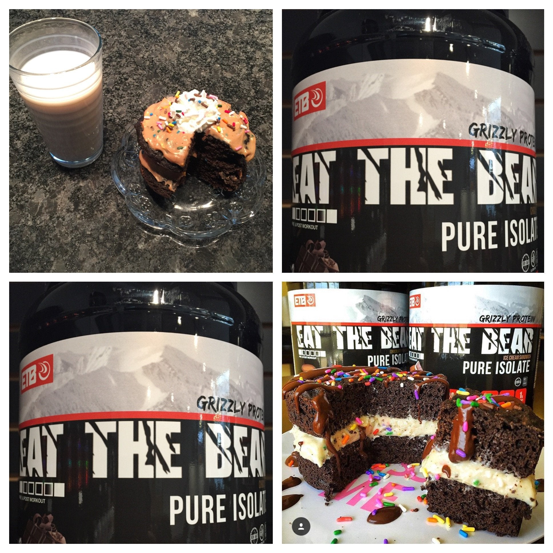 Chocolate Protein Cake with Birthday Cake Frosting