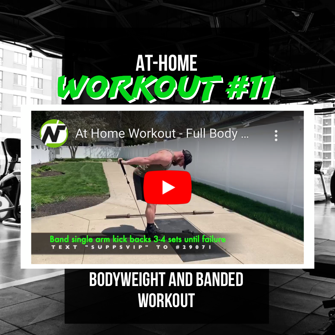 At Home Workout #11 (Full-Body using bodyweight and bands)
