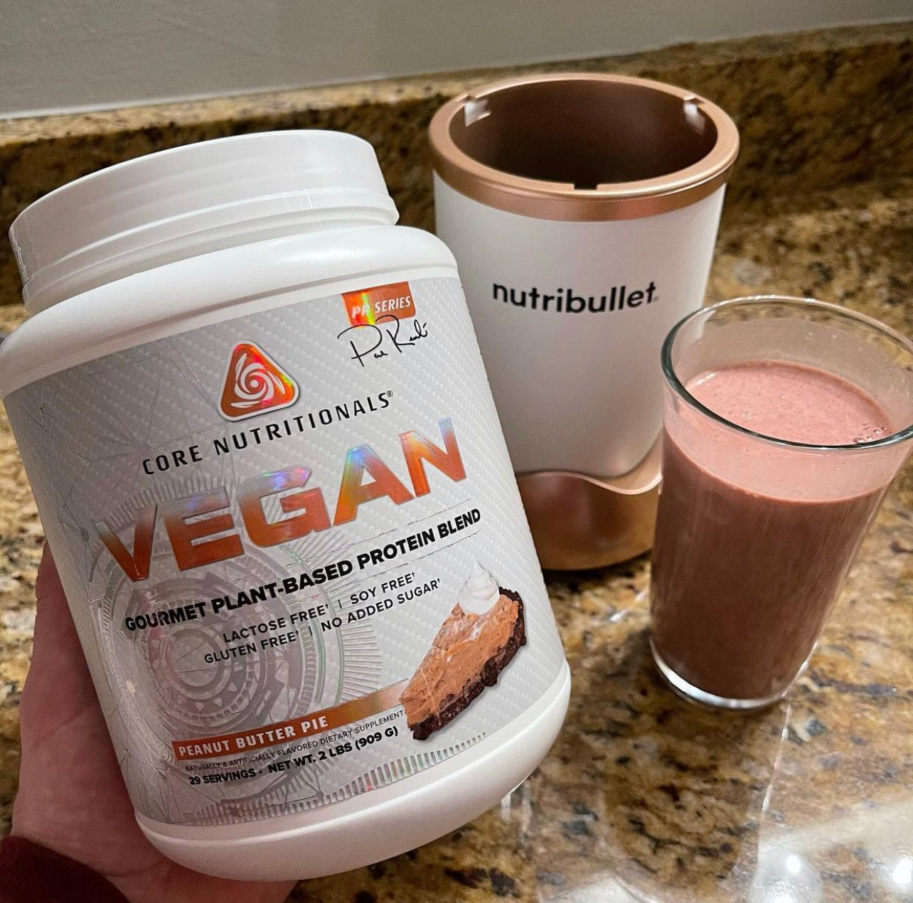 Chocolate Peanut Butter Vegan Protein Shake Recipe