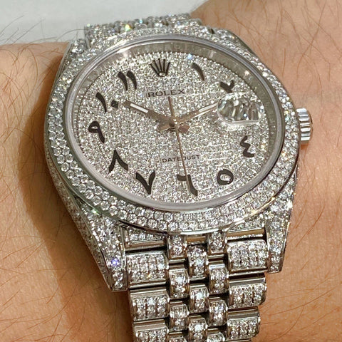 Rolex Datejust 41 - Iced Out - Custom Diamond Set & Dial VS SI1