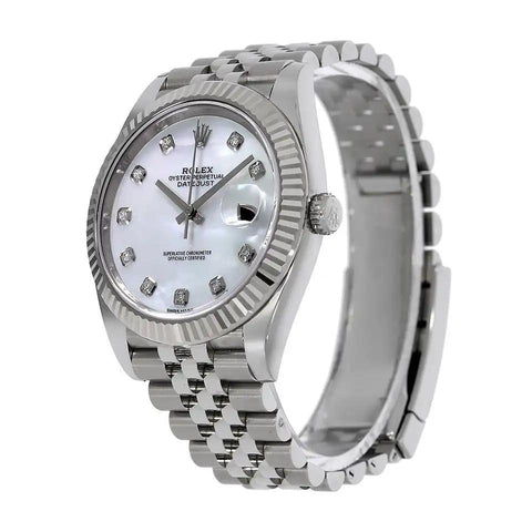 Rolex Datejust 41 Fluted Jubilee MOP Dial - 126334