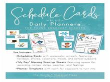 Load image into Gallery viewer, Visual Schedule Cards + MY DAY Planner (DIGITAL)