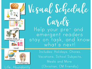Visual Schedule Cards + MY DAY Planner (DIGITAL)