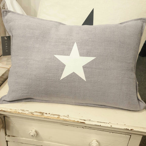 Star Cushion - Silver Grey Oblong