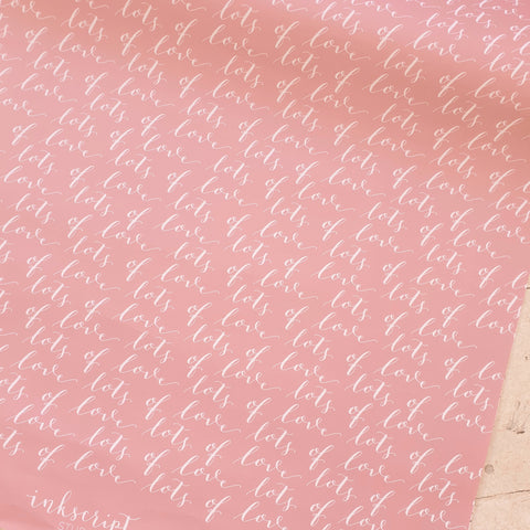 'Lots of Love' Modern Calligraphy Wrapping Paper
