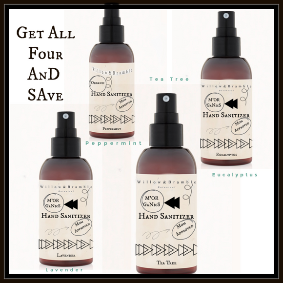 Discounted Pack of All Four Hand Sanitizers - Willowandbramble