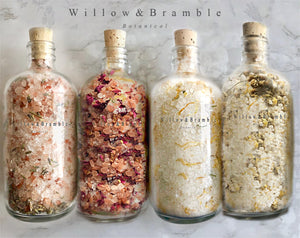 4 Piece Luxurious Bath Salts for Relaxation and Healing - Willowandbramble