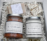 Relaxing 75% off 6 Pc Gorgeous Organic Handcrafted Spa Box Basket Woman Spa Basket Organic, Glass Jars, Recycled Package - Willowandbramble