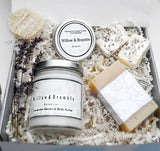 75% off 7 Pcs. Gorgeous Organic Quality Handcrafted Spa Box, Basket Woman's Spa Basket,Organic, Glass Jars, Recycled Package - Willowandbramble