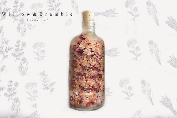 Luxurious Bath Salts Chamomile Rose - Willowandbramble