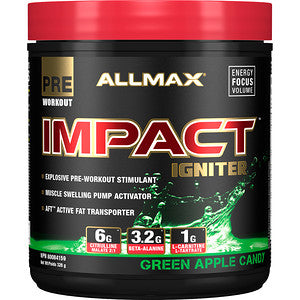 ALLMAX Impact Igniter 20 Servings (Green Apple)