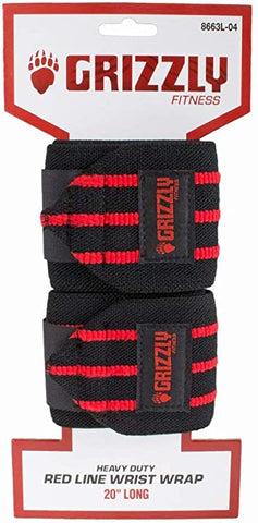 "Grizzly Red Line Wrist Wrap 20"" (8663L-04)"