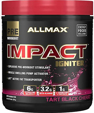 ALLMAX Impact Igniter 20 Servings (Tart Black Cherry)