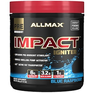 ALLMAX Impact Igniter 20 Servings (Blue Raspberry)
