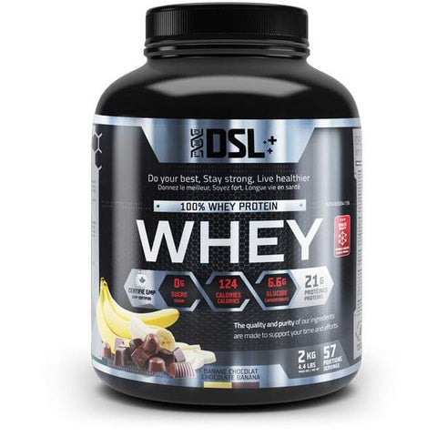 DSL Whey Protein 4.4LBS 57 Servings (Banana Chocolate)