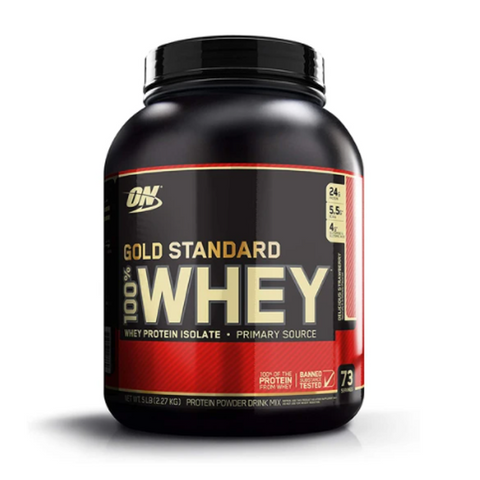 ON Gold Standard Whey 5LBS 73 Servings (Strawberry)