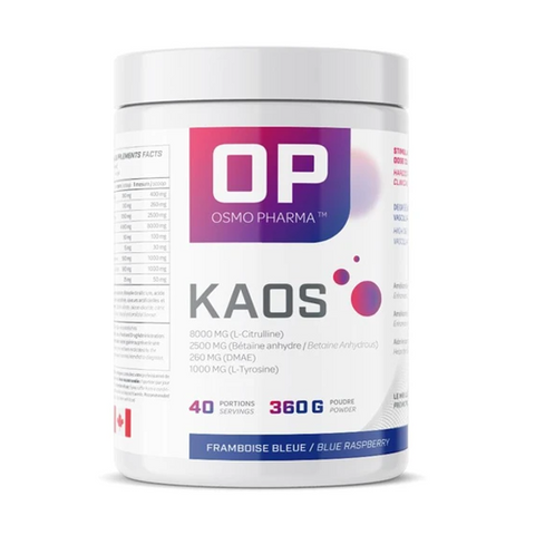 Osmo Pharma KAOS Pre-Workout 40 Servings (Blue Raspberry)