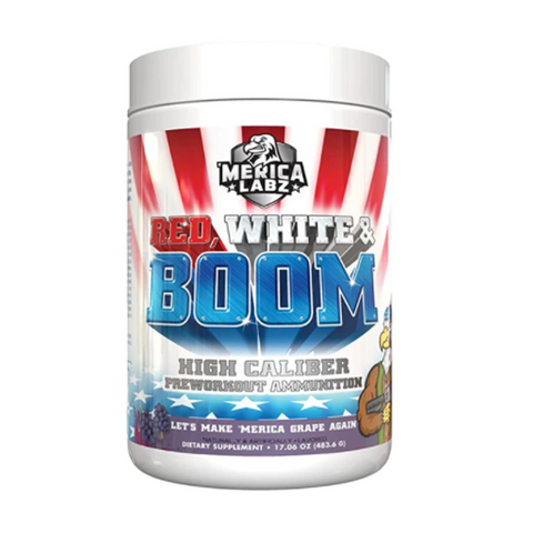 Red, White & Boom Pre-Workout 20 Servings (Grape)