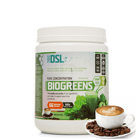 DSL BioGreens 600g 66 Servings (Moccachino)
