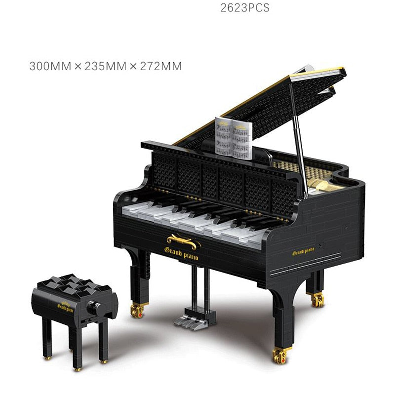 Technics Simulation Musical Instruments piano building block Bluetooth music box educational toys collection for Adult gifts