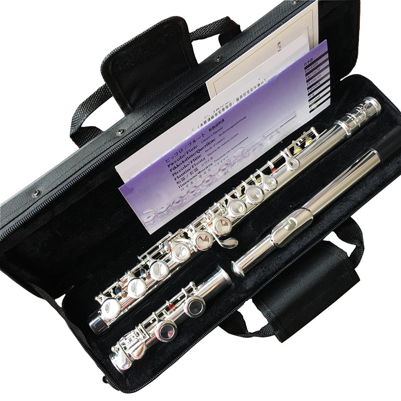 Top Japan flute  YF-471 16 Holes Silver Plated Transverse Flauta obturator C Key with E key music instrument  Dizi