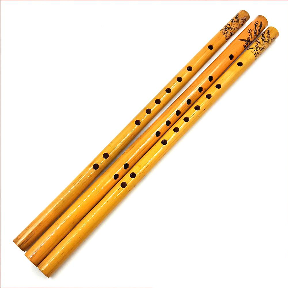 44CM Chinese Traditional 6 Hole Bamboo Flute Vertical Flute Musical Instrument for Beginners Kids Gift  Amateurs