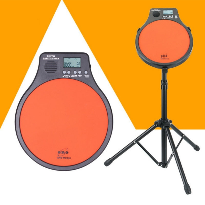 Top Quality Digital Portable Electric Electronic Drum Pad For Training Practice Metronome Counter Popular Drum Traning Tools